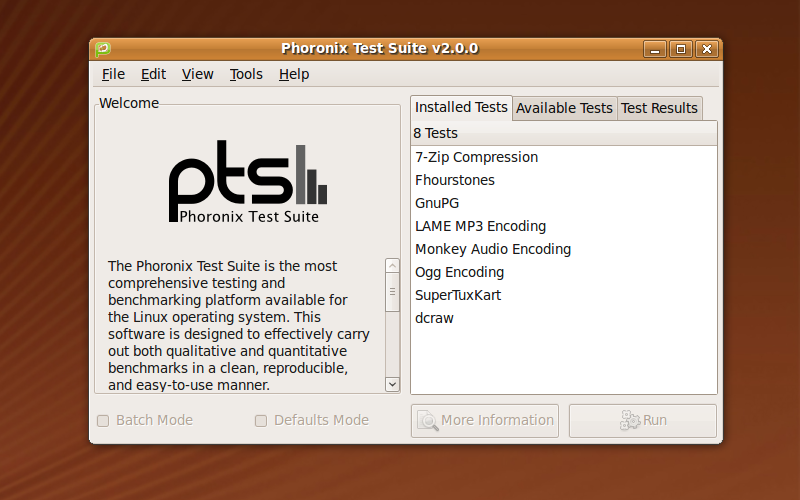 Compara GNU/Linux con Windows, utilizando Phoronix Test